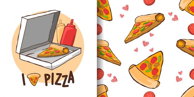 Pizza illustrationen