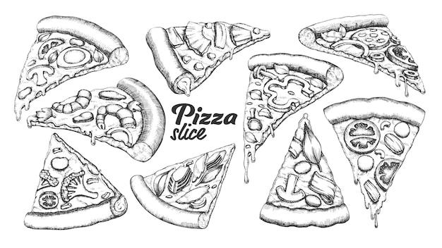 Pizza in scheiben schneiden