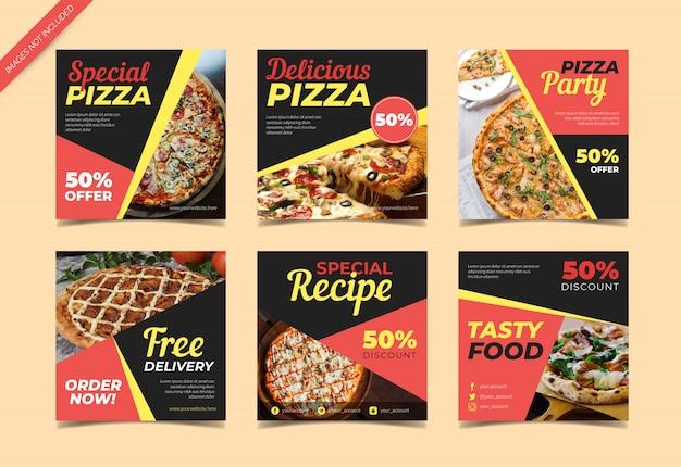 Pizza instagram beitragssammlung