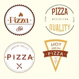 Pizza-label Kostenlosen Vektoren