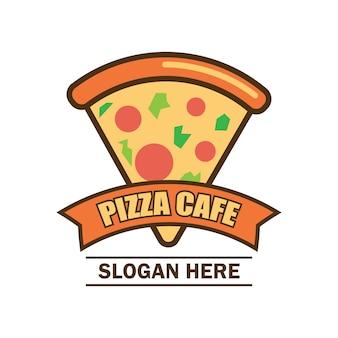 Pizza-logo mit text platz für ihren slogan