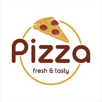 Pizza-logo-vorlage modern