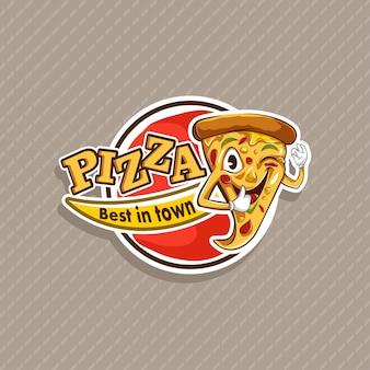 Pizza-logo-vorlage Premium Vektoren