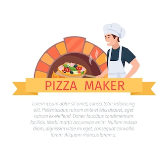 Pizza maker label