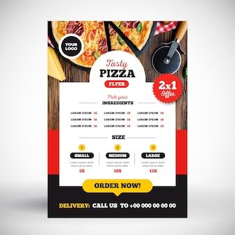 Pizza-menü-konzept