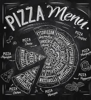 Pizza-menü-kreide