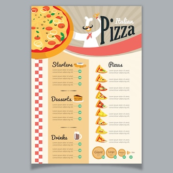 Pizza-menü