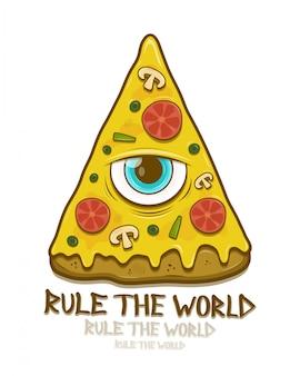 Pizza mit maurer ein auge.