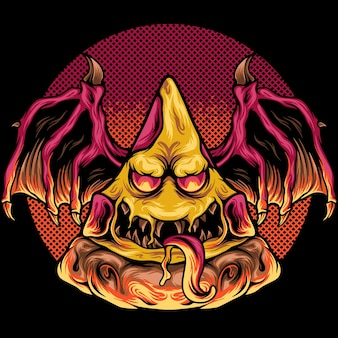 Pizza-monster-illustration