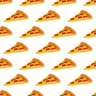 Pizza-nahtloses muster-hintergrund-vektor-design