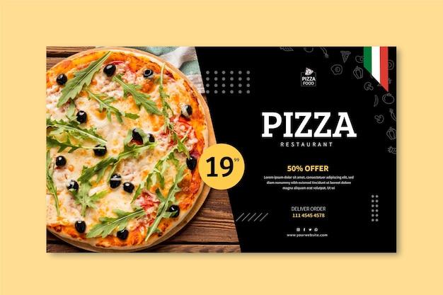 Pizza restaurant banner vorlage