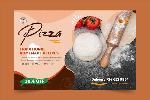 Pizza restaurant banner