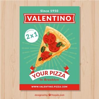 Pizza restaurant broschüre mit angebot Kostenlosen Vektoren