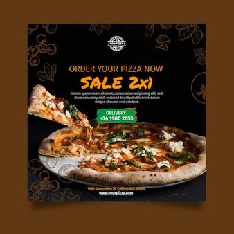 Pizza restaurant flyer platz