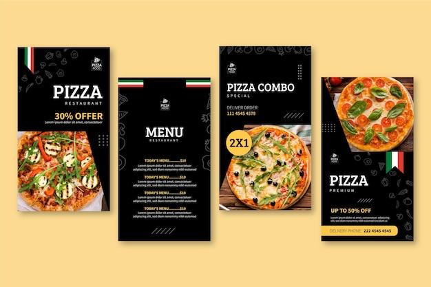 Pizza restaurant instagram geschichten