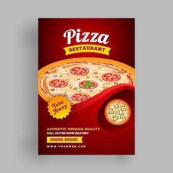 Pizza restaurant menü, flyer vorlage.