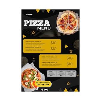 Pizza restaurant menüvorlage