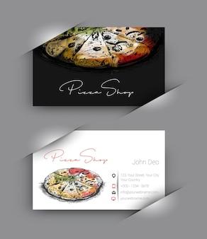 Pizza shop visitenkarten-vektor-hintergrund