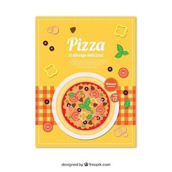 Pizza zeitplakat