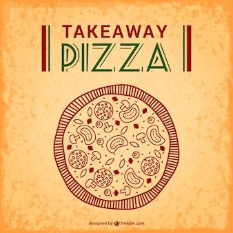 Pizza zum mitnehmen kostenlosen vektor