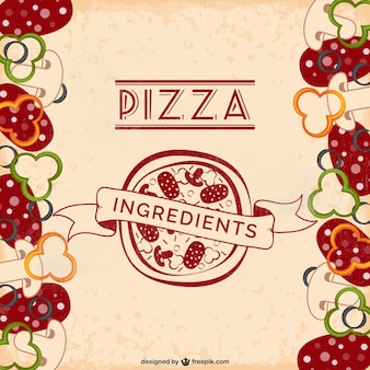 Pizza-zutaten freien vektor
