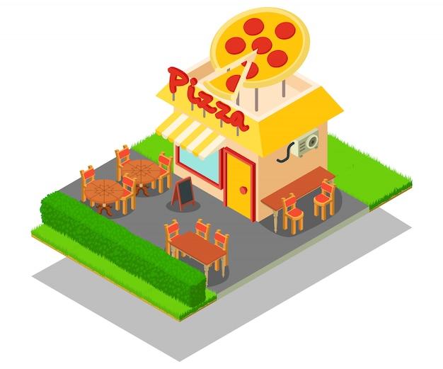 Pizzaplatz-konzeptszene