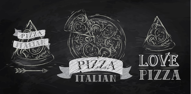 Pizzasymbolkreide