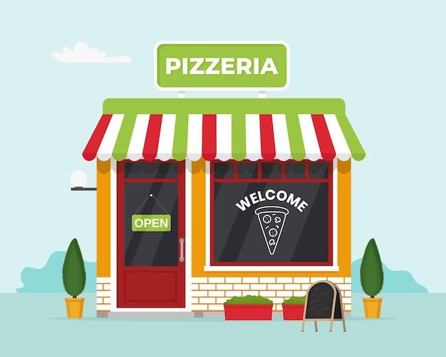 Pizzeria ladenfront. gewerbe, immobilien, marktcaffee.