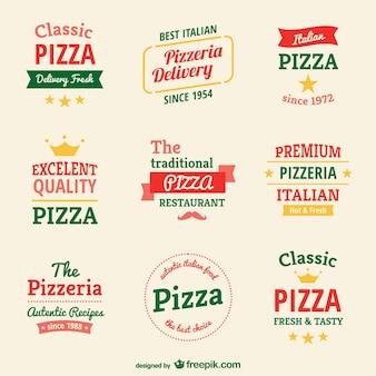 Pizzeria logo-vorlagen