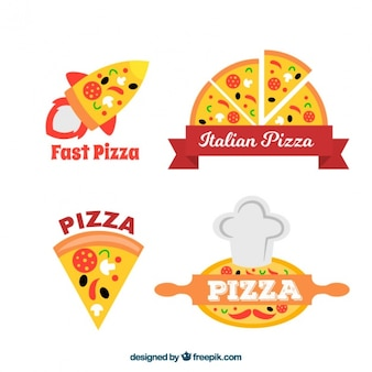 Pizzeria logos gesetzt