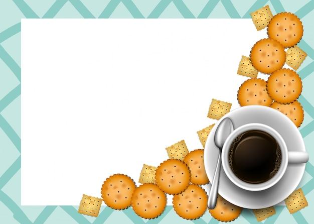 Plätzchen und kaffee auf grenze