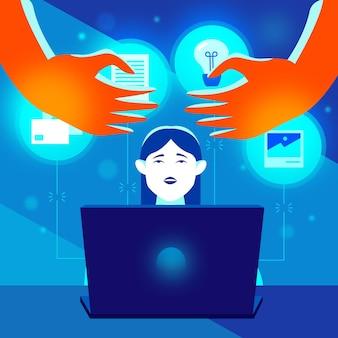 Plagiat konzept cyber stehlen