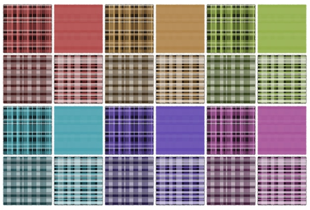 Plaid backdrop set farbe blau