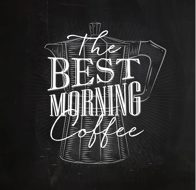 Plakat bester morgenkaffee