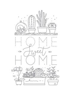 Plakat, das süßes haupthaus beschriftet