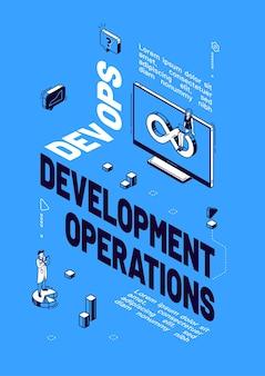 Plakat der entwicklungsoperationen der entwickler