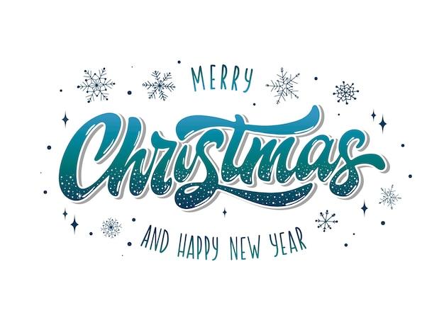 Plakat der frohen weihnachten und des guten rutsch ins neue jahr, fahne