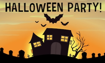 Plakat der Halloween-Party