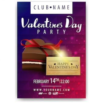 Plakat der party zum valentinstag