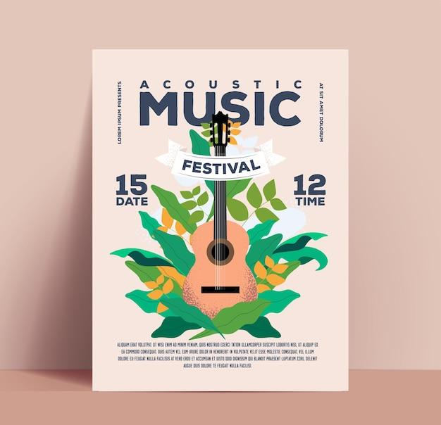 Plakat des akustischen musikfestivals