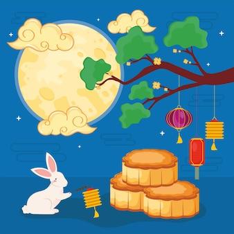 Plakat des chinesischen festivals
