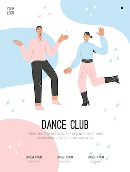 Plakat des dance club-konzepts