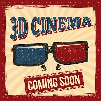 Plakat des kinos 3d