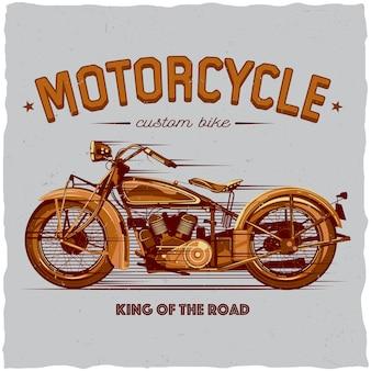 Plakat des klassischen motorrades