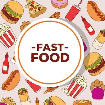 Plakat des köstlichen fastfoods