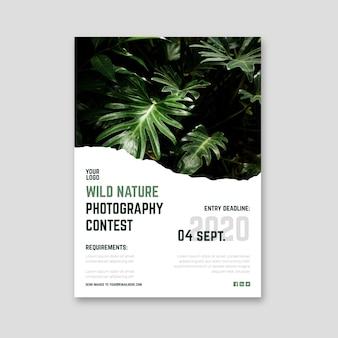 Plakat des wettbewerbs der wilden naturfotografie