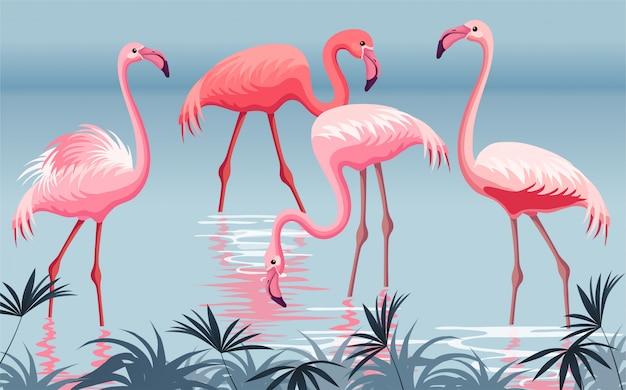 Plakat flamingo.