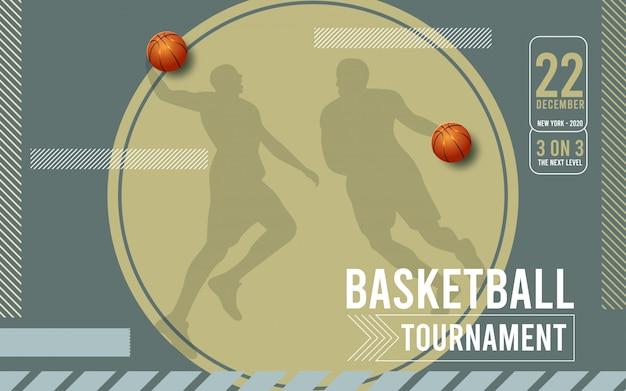 Plakat für basketballturnier.