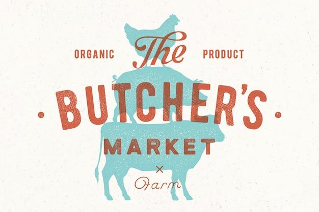 Plakat für den metzgermarkt