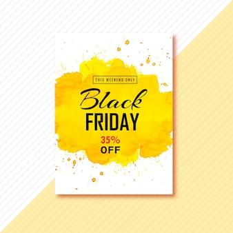 Plakat für design der schwarzen freitagbroschüre